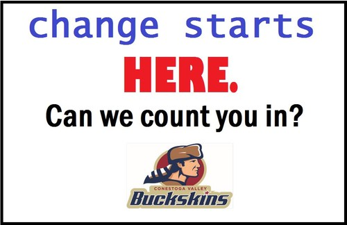 "CV logo with words ""Change Starts Here. Can we count you in?"""