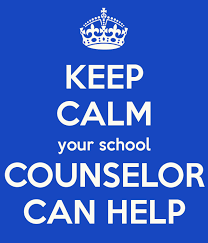 "Image saying ""Keep Calm Your School Counselor Can Help"""
