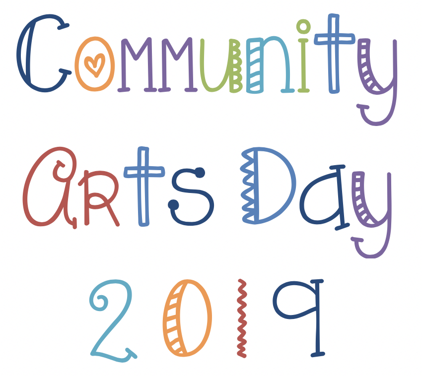 text: community arts day