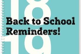 NEW SCHOOL YEAR PARENT REMINDERS